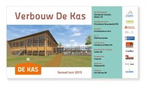 bouwbord De Kas, duurzame coöperatie