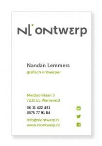 visitekaartje NL ontwerp