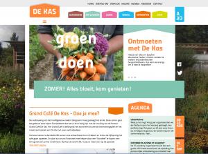 website De Kas, duurzame coöperatie